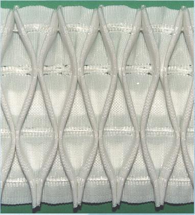 Шторная тесьма белая (3210.002) | Компания «Сиртекс-Дизайн»