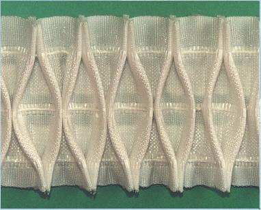 Шторная тесьма белая (3265.009) | Компания «Сиртекс-Дизайн»