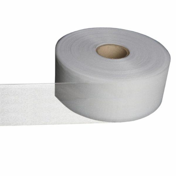 Люверсная термоклеевая лента шир 10см прозрачная односторонняя (рул 50м) (ЛЛ_П_10) | Компания «Сиртекс-Дизайн»