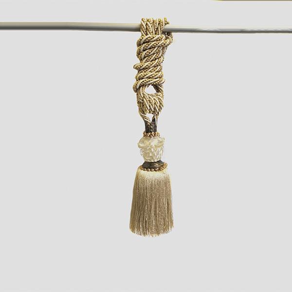 Подхват кисть, декорирована цветным стеклом и металлом 31см х 80см 2206 | Компания «Сиртекс-Дизайн»