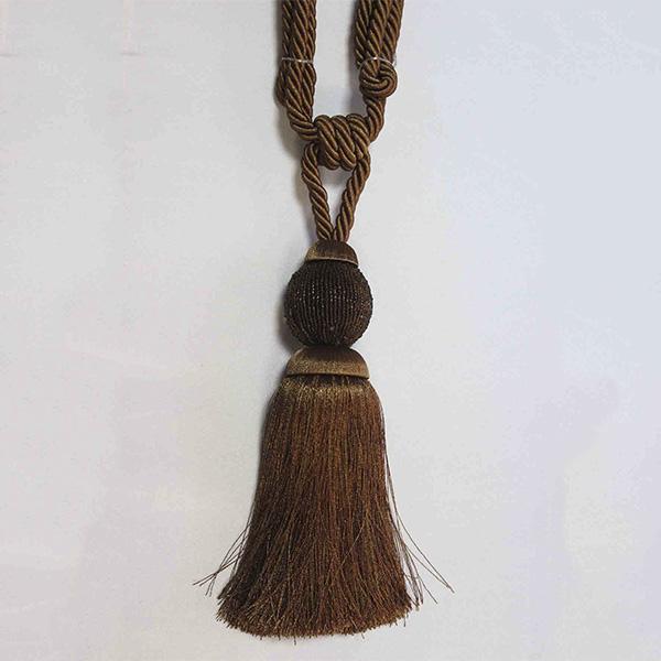 Подхват с кистью, декорирован бисером 32,5см х 77см 17948-0167 | Компания «Сиртекс-Дизайн»