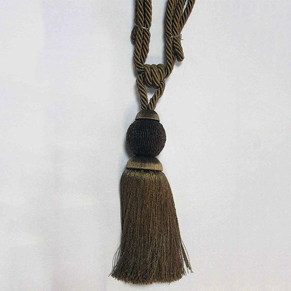 17948-0168 Подхват с кистью, декорирован бисером 32,5см х 77см | Компания «Сиртекс-Дизайн»