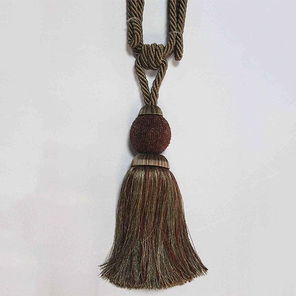 Подхват с кистью, декорирован бисером 32,5см х 77см 17948-0323 | Компания «Сиртекс-Дизайн»