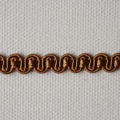Тесьма декоративная «змейка» узкая (0049097-0167) (0049097-0167)