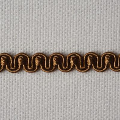Тесьма декоративная «змейка» узкая (0049097-0168) (0049097-0168)