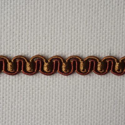 Тесьма декоративная «змейка» узкая (0049097-0448) (0049097-0448)