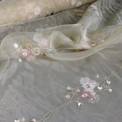 Органза с вышивкой (В1205/05) | Компания «Сиртекс-Дизайн»