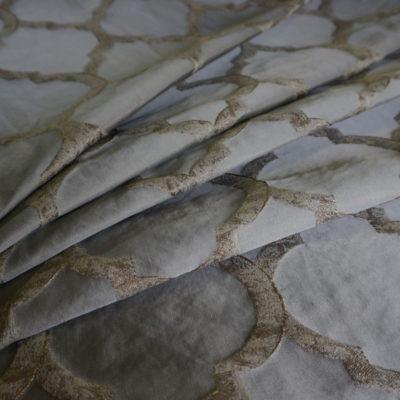 16087.7406 Ткань D'Oro графит ромб (16087.7406)