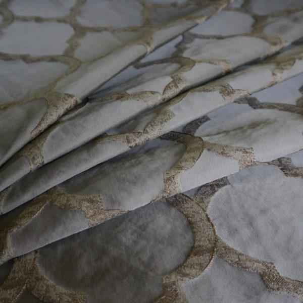 16087.7406 Ткань D'Oro графит ромб | Компания «Сиртекс-Дизайн»
