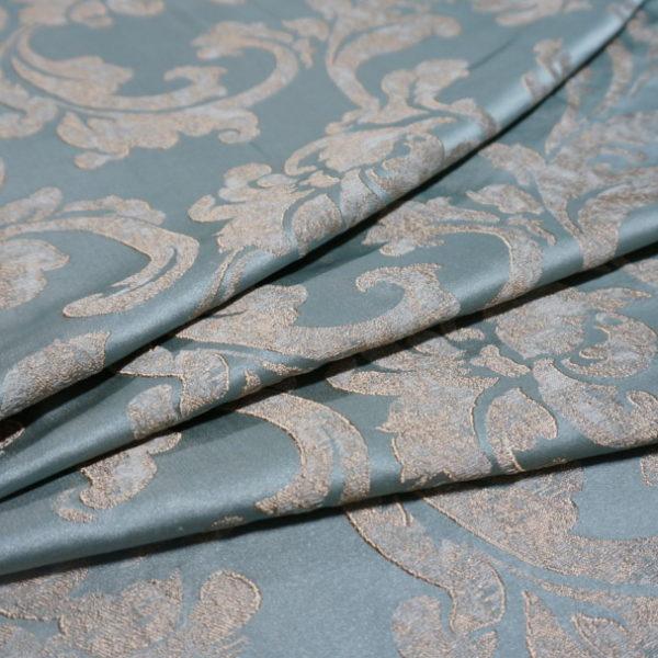 16003.7335 Ткань D'Oro бирюза цветок | Компания «Сиртекс-Дизайн»