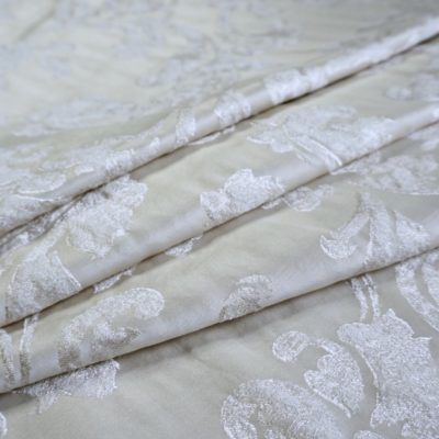 16003.7101 Ткань D'Oro беж с серебром цветок (16003.7101)
