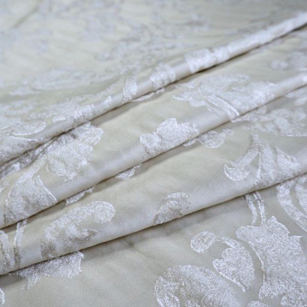 16003.7101 Ткань D'Oro беж с серебром цветок | Компания «Сиртекс-Дизайн»
