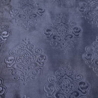 Бархат с тиснением тёмно-голубой (11А-14) | Компания «Сиртекс-Дизайн»