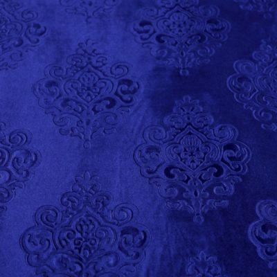 Бархат с тиснением синий (11А-23) | Компания «Сиртекс-Дизайн»