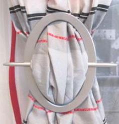 Декоративная пряжка для гардин 19.18 (9912 овал) | Компания «Сиртекс-Дизайн»